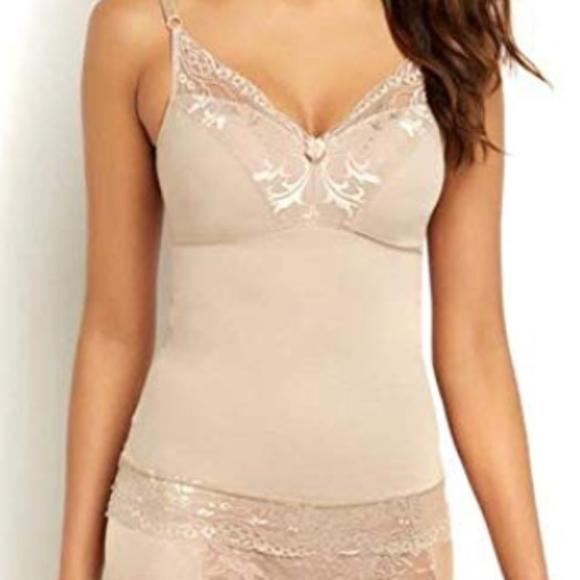 Rhonda Shear Other - Rhonda Shear Camisole Pin Up Lace Nude Small